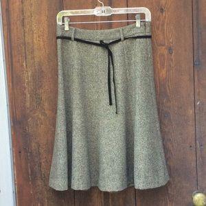 J Crew Tweed Skirt Full circle size 2